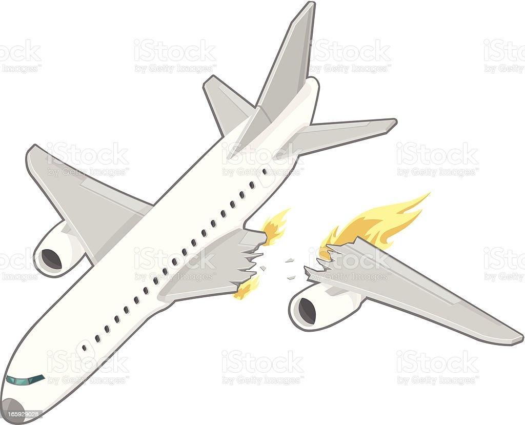 Airplane Crash vector art illustration