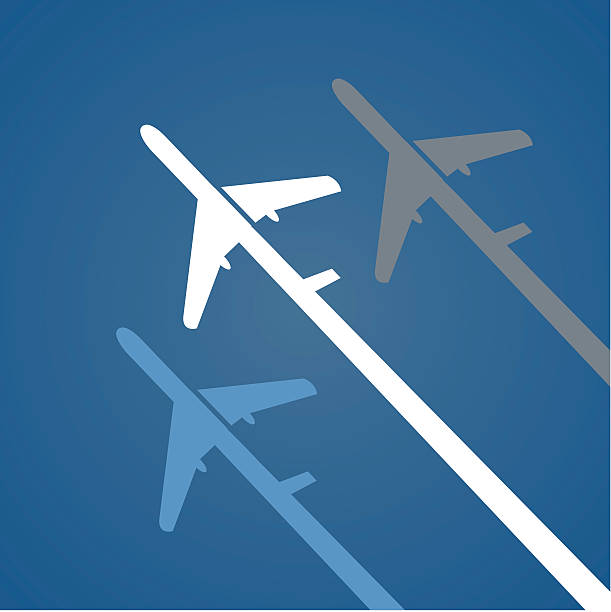 Airplane creative poster. Vector illustration. aviation and environment summit stock illustrations
