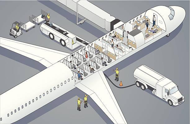 Flugzeug Cutaway – Vektorgrafik