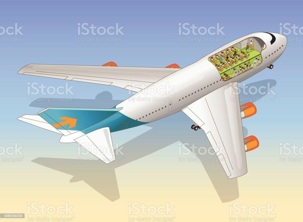 Avión de unión (cutaway) ilustración de avión de unión y más banco de imágenes de 2015 libre de derechos