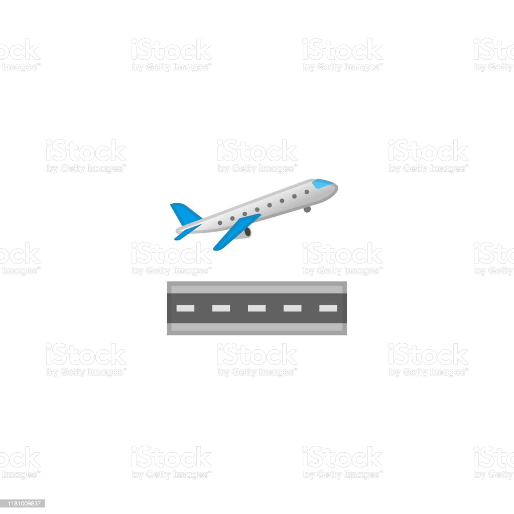 Airplane Departure Vector Icon Isolated Passenger Plane Cartoon Style Emoji Emoticon Illustration Stock Illustration Download Image Now Istock