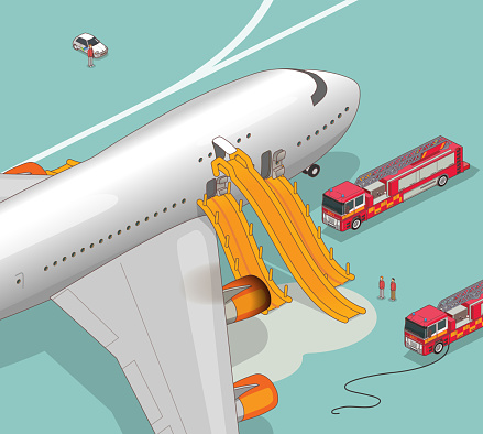 airplane evacuation slide