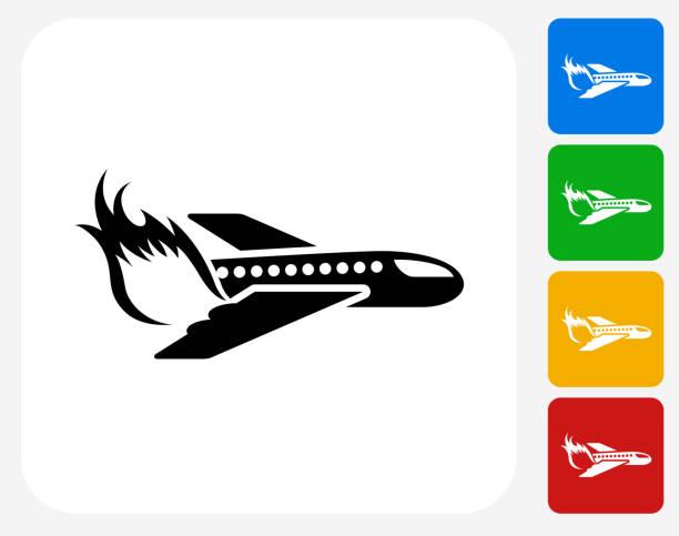 Plane Crash Clip Art, Vector Images & Illustrations - iStock