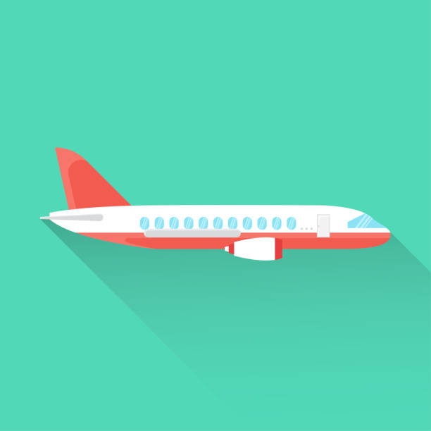 Airplane Flat Icon Airplane Flat Icon plane stock illustrations