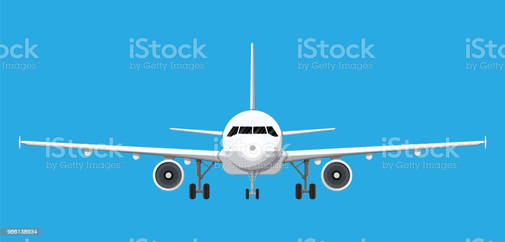 Airplane front view. - Royalty-free Air Vehicle stock vector