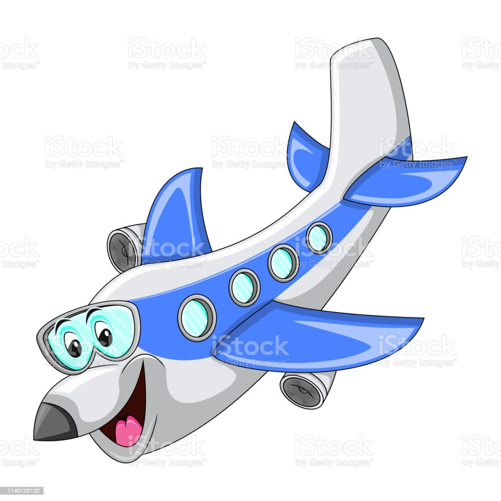 Airplane Funny Cartoon Stock Illustration Download Image Now