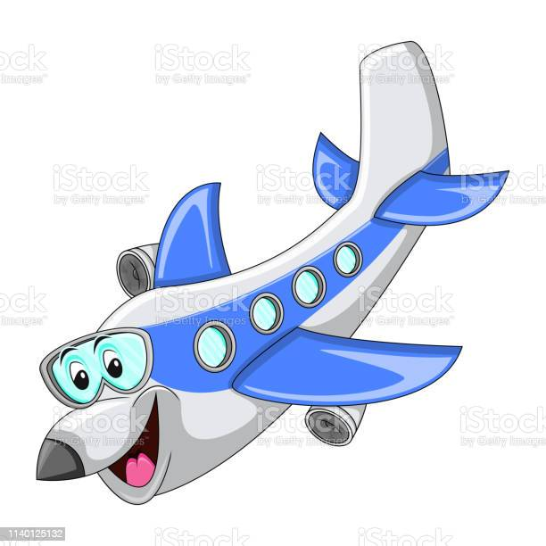 Airplane Funny Cartoon Stock Illustration Download Image Now Istock