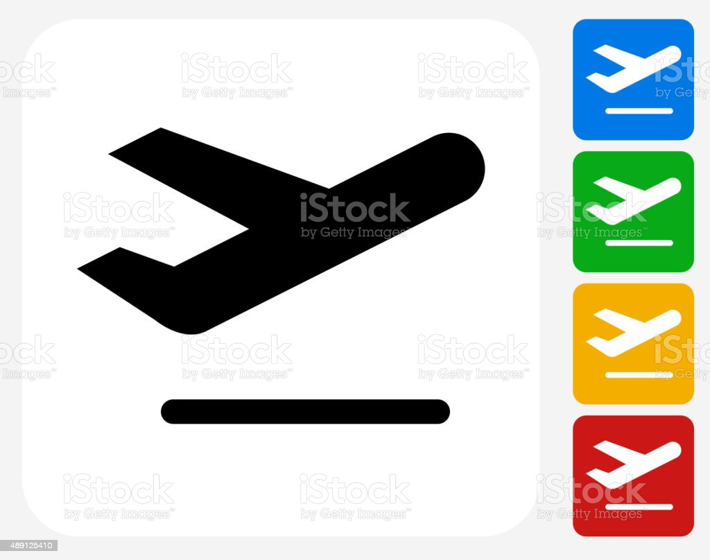 Airplane Icon Flat Graphic Design vector art illustration