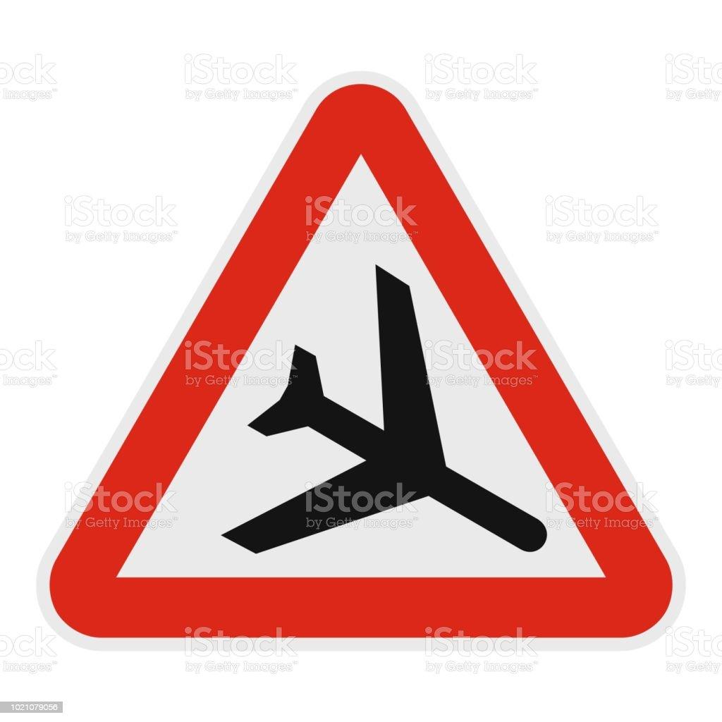 Airplane icon, flat style. vector art illustration