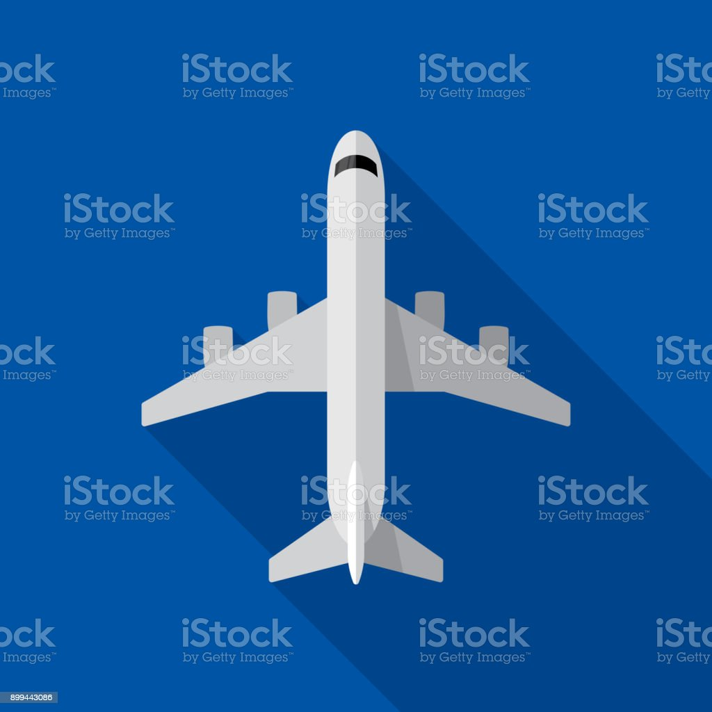 Airplane Icon Flat - illustrazione arte vettoriale