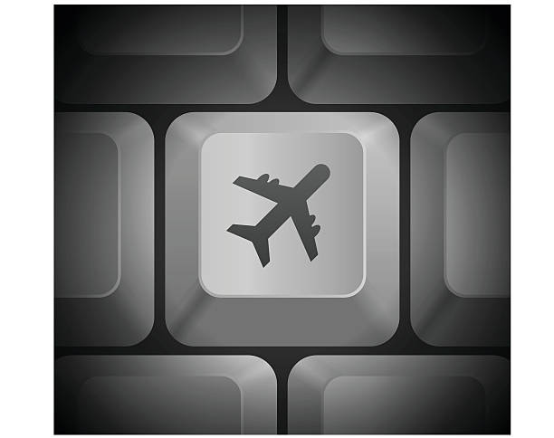 Royalty Free Airplane Keyboard Symbol Clip Art Vector Images