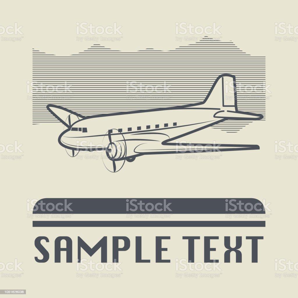 Icono de avión o signo - ilustración de arte vectorial