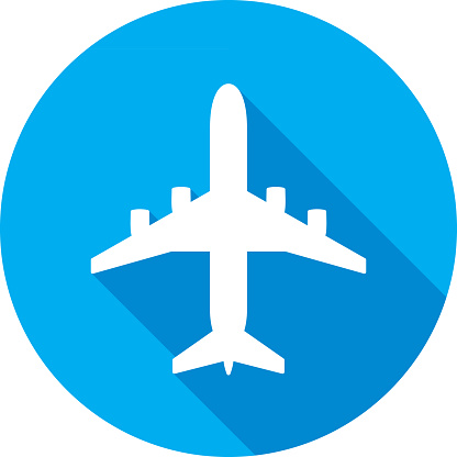 Airplane Icon Silhouette