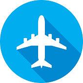 istock Airplane Icon Silhouette 907313390