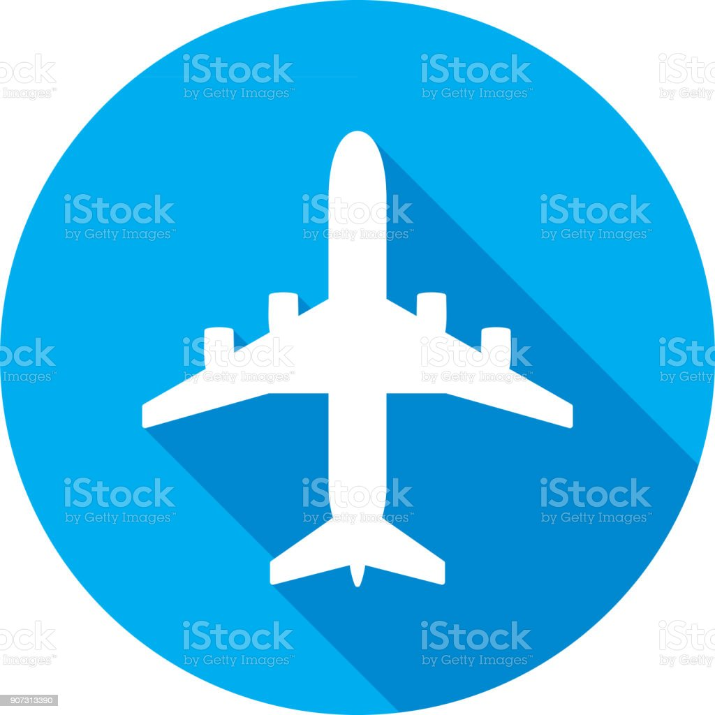 Airplane Icon Silhouette - illustrazione arte vettoriale