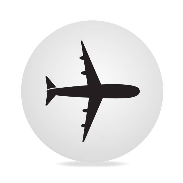 Airplane Icon Airplane Icon airport clipart stock illustrations
