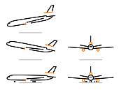 dc-10 airplane icons