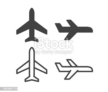 istock Airplane - Illustration Icons 1262984719