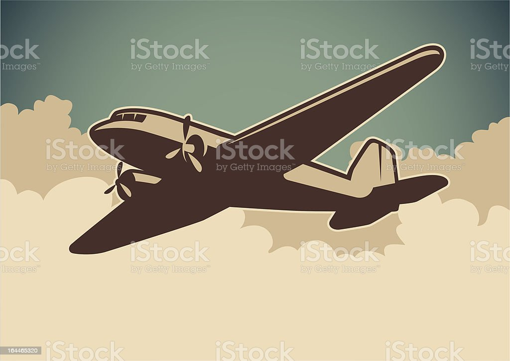Airplane illustration. vector art illustration