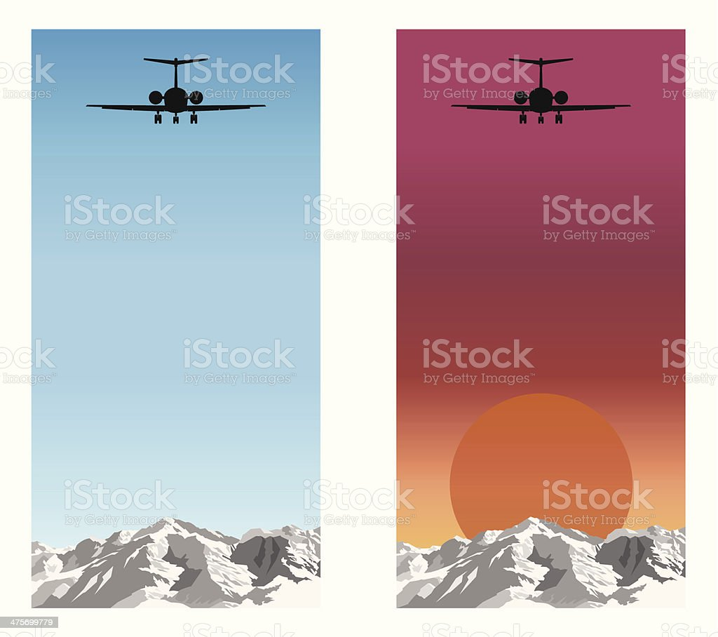 Airplane journey royalty-free stock vector art
