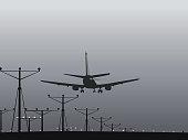 istock airplane landing 93425654