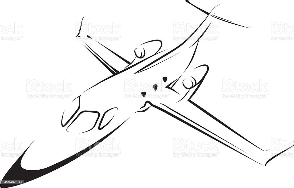 Airplane line art royalty-free airplane line art stock vector art & more images of air vehicle