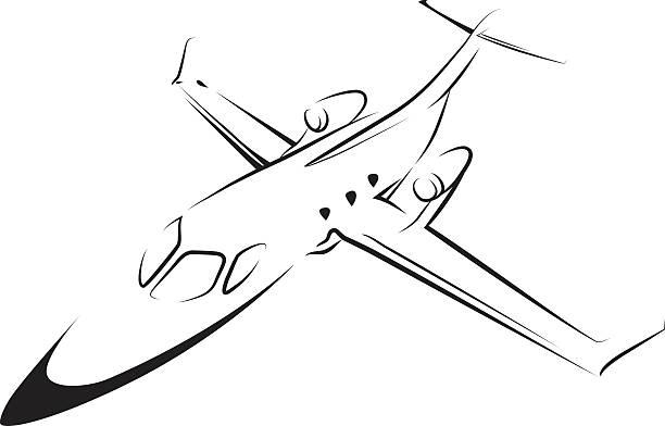 Airplane line art vector art illustration