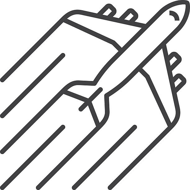 Line Art Vector Illustrator : Royalty free airplane clip art vector images