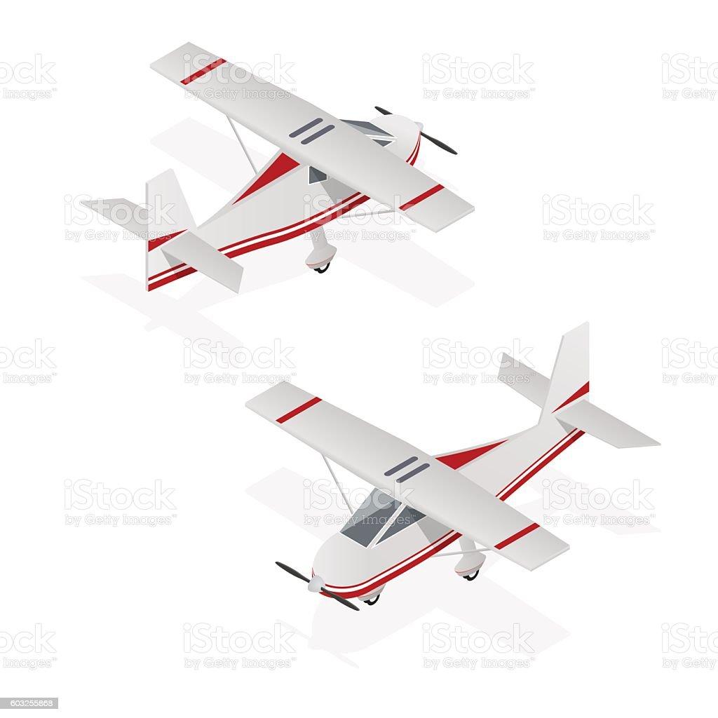 Airplane Mini Isometric View Vector Stock Art 603255868 Istock Wing Diagram Royalty Free