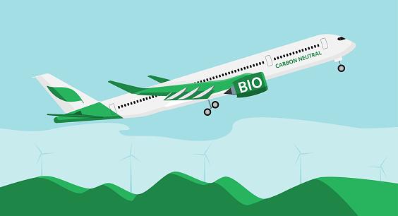 Airplane on biofuel