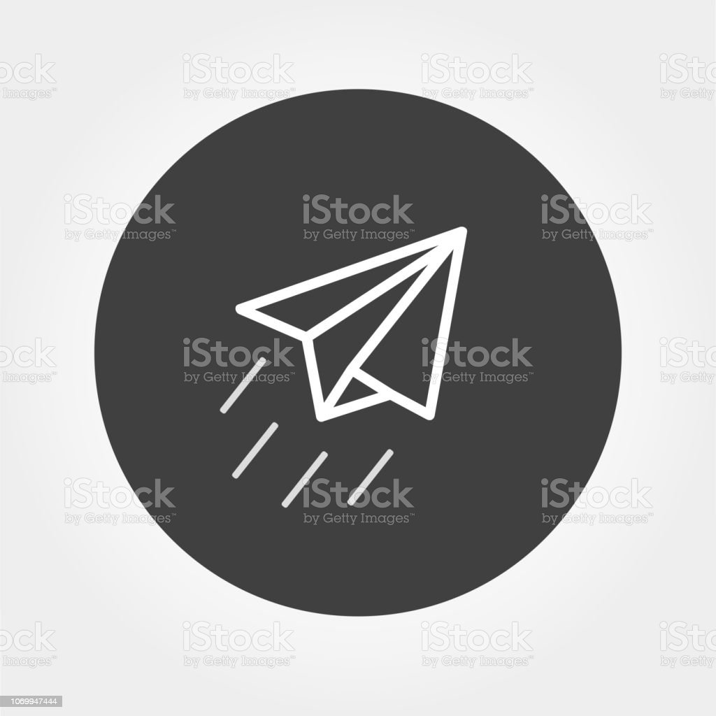 Airplane Paper sign , icon paper plane vector illustration