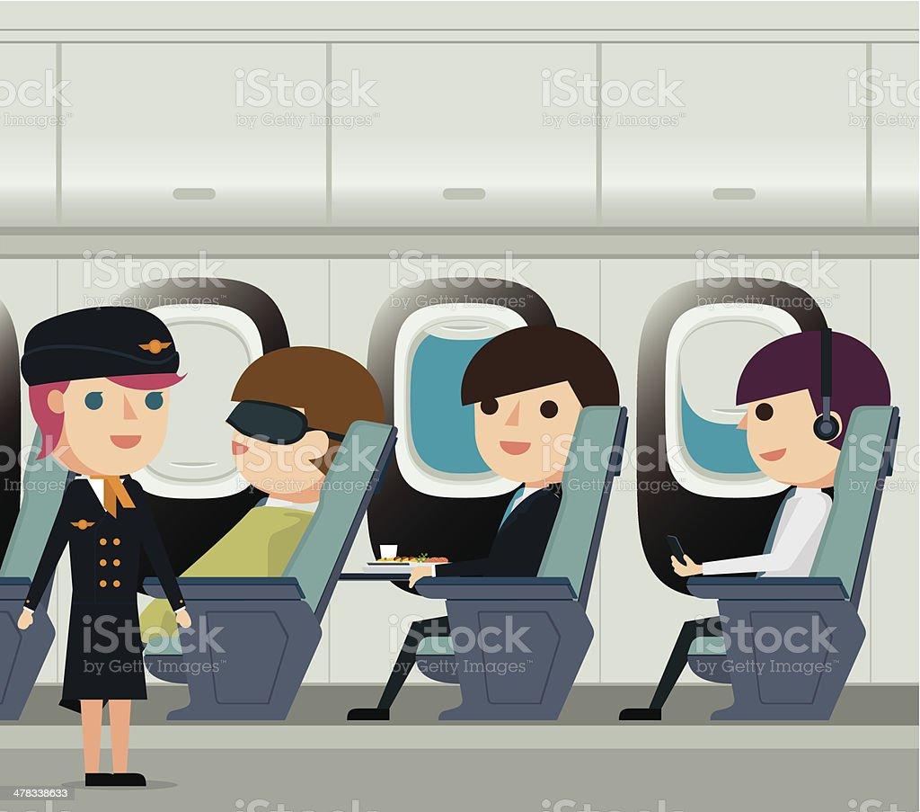 Avión de pasajeros - ilustración de arte vectorial