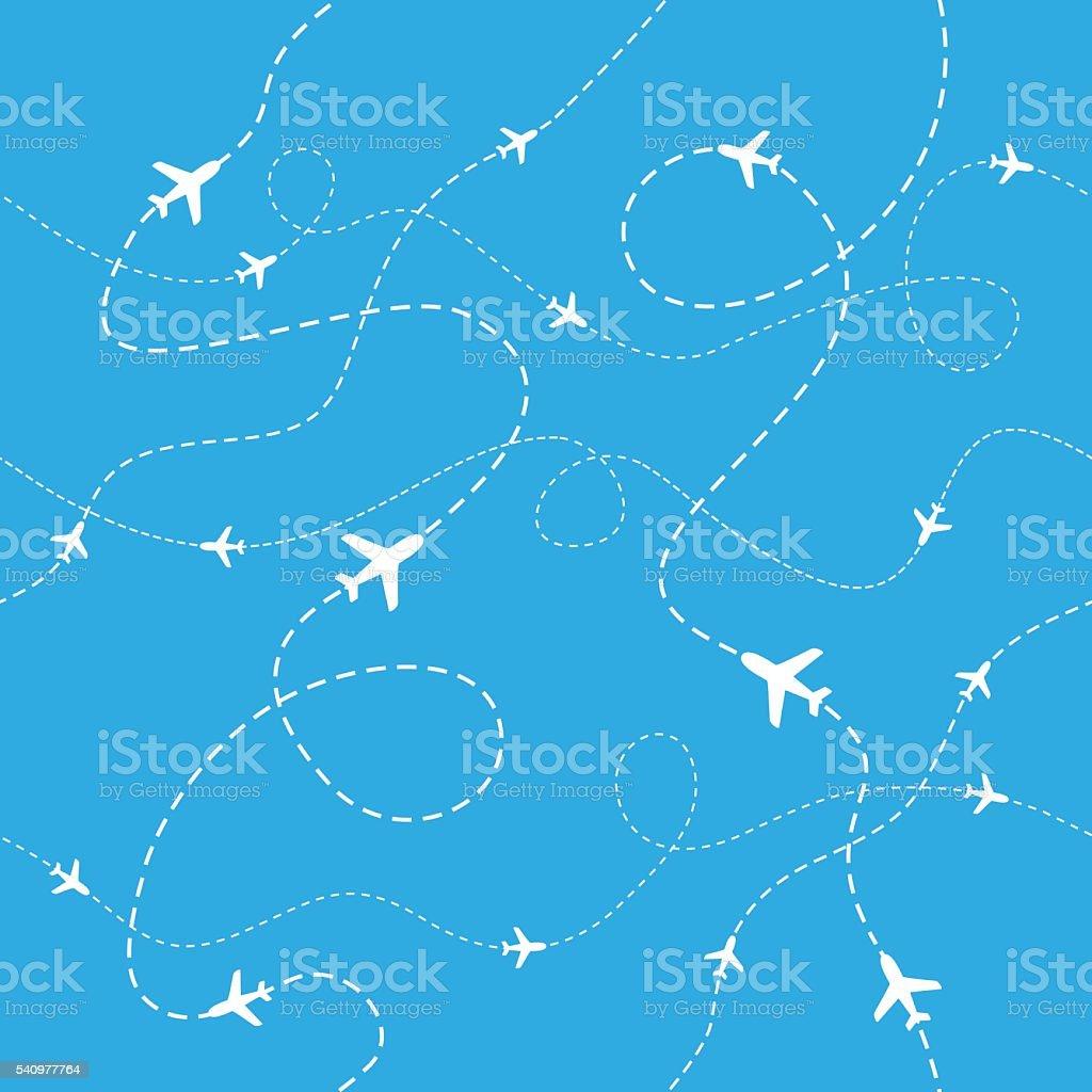 Airplane Pattern - Seamless - Illustration vector art illustration