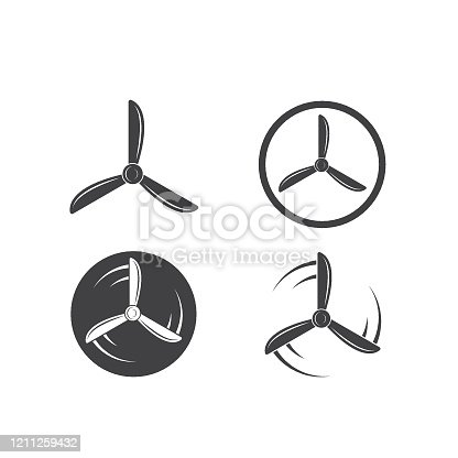 istock airplane propeller  vector illustration design 1211259432