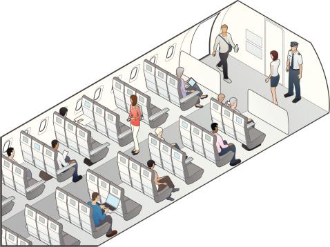 Airplane Seating Illustration