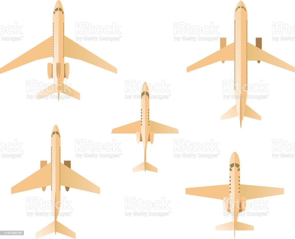 Airplane Set vector art illustration