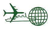 Airplane, Ship and Globe