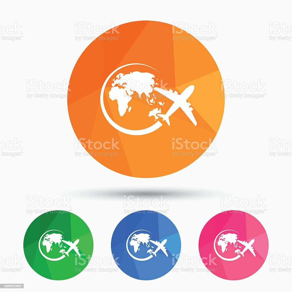 Airplane sign icon. Travel trip symbol. royalty-free airplane sign icon travel trip symbol stock vector art & more images of air vehicle