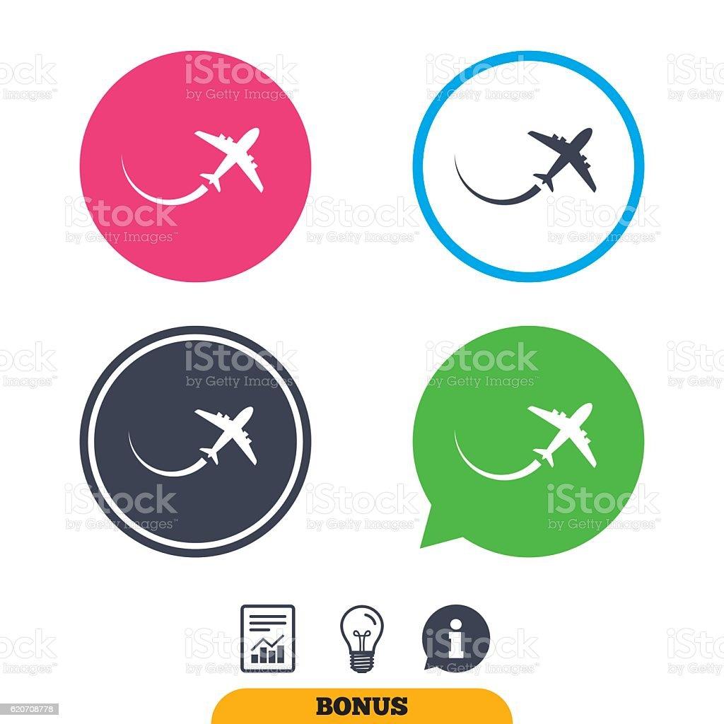 Airplane sign icon travel trip symbol stock vector art more travel trip symbol royalty free airplane sign icon travel trip biocorpaavc Choice Image