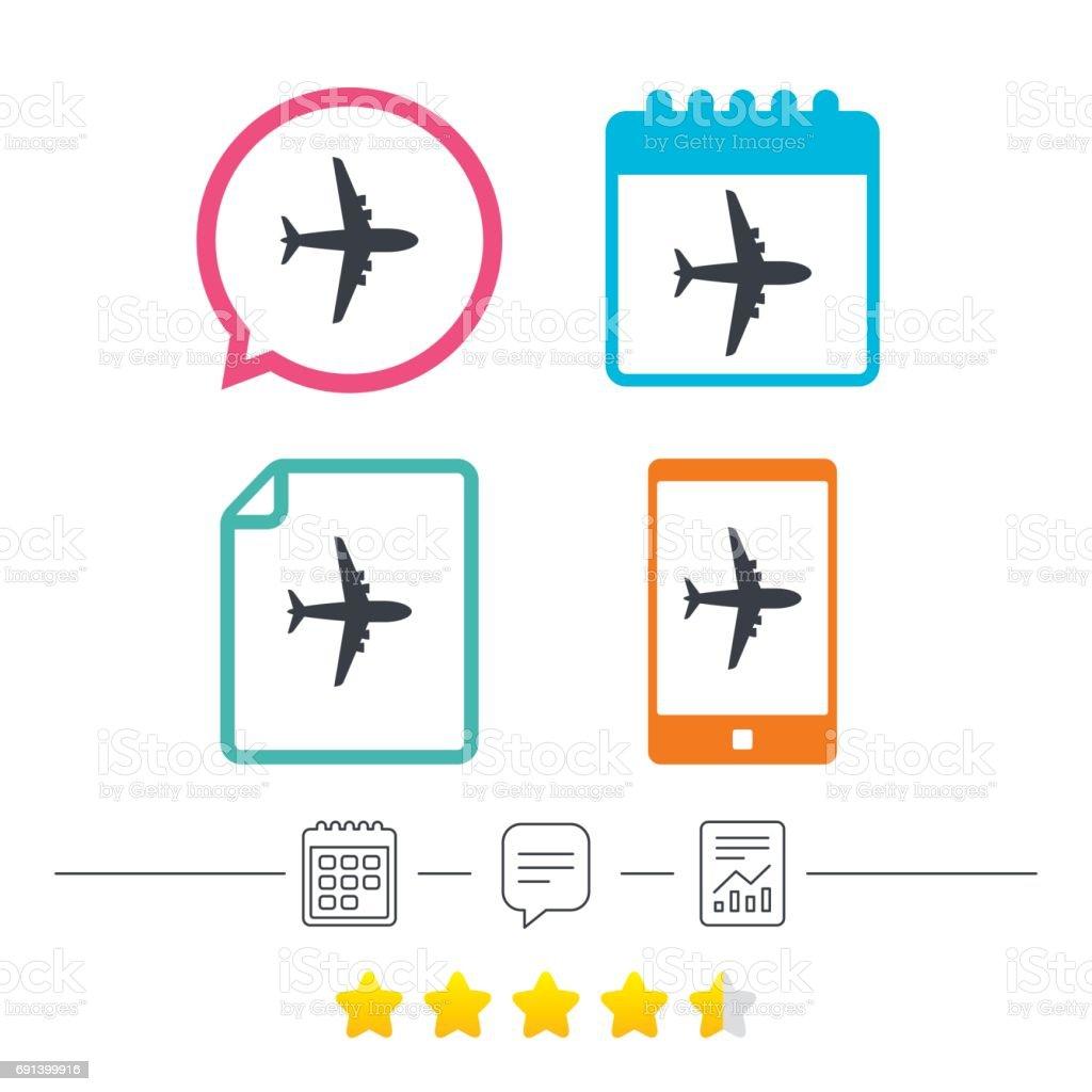 Airplane Sign Plane Symbol Travel Icon Stock Vector Art More