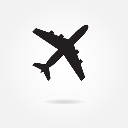Airplane Silhouette Vector Aircraft Icon Or Symbol Stock Illustration Download Image Now Istock