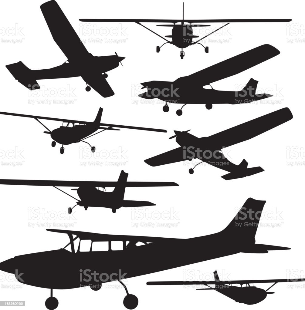 Airplane Silhouette vector art illustration