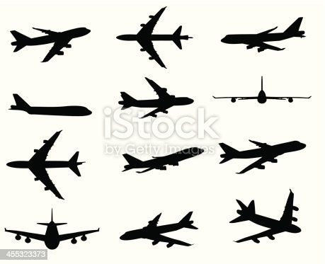 Airplane silhouette Illustration.