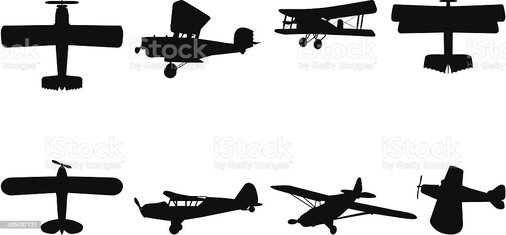 Airplane Silhouette Royalty Free Stock Vector Art Amp More Images Of Air