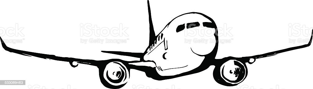 airplane sketch royalty-free airplane sketch stock vector art & more images of 2015