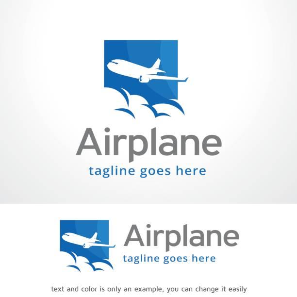 비행기 기호 서식 파일 디자인 벡터, 상징, 디자인 컨셉, 창조적인 기호, 아이콘 - 샘플 텍스트 stock illustrations