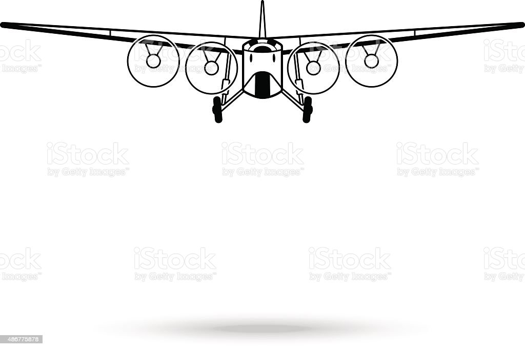 Ilustración de Símbolo Avión De Pasajeros y más banco de imágenes de ...
