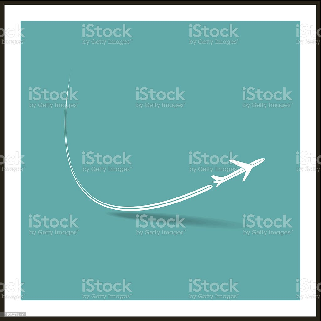 airplane symbol vector art illustration