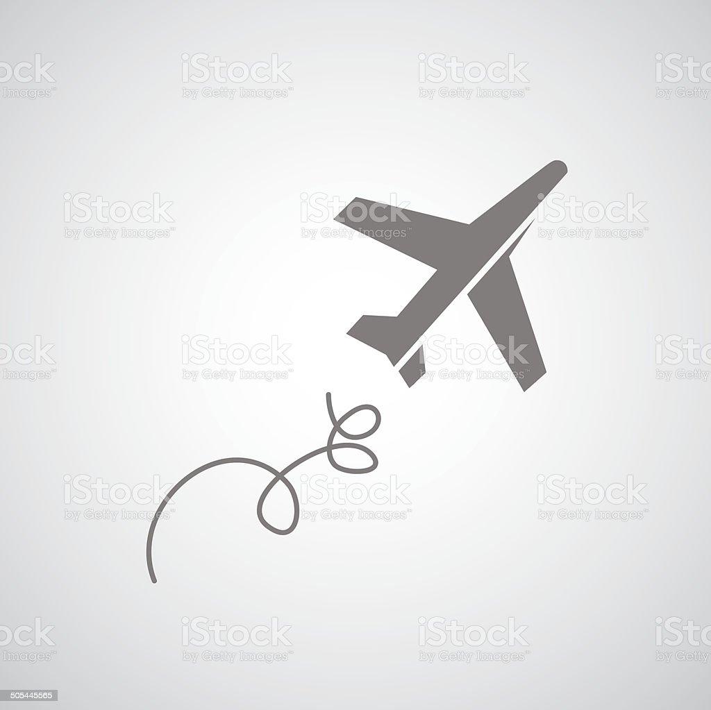 Símbolo; Avión de pasajeros - ilustración de arte vectorial