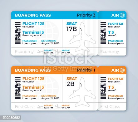 istock Airplane Ticket Boarding Pass 520230682